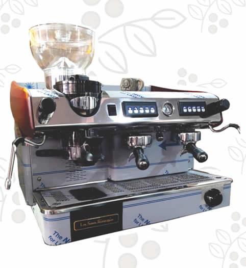 Máquina de Café Express/Capuchinera La SanGiorgio Maxi dos Grupos con Molino Incorporado