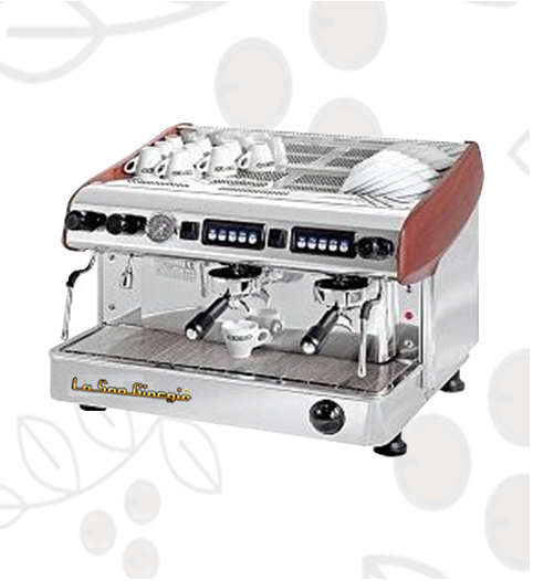 Máquina de Café Express/Capuchinera La SanGiorgio Maxi dos Grupos Automática