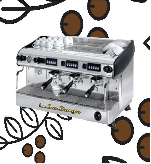 Máquina de Café Express/Capuchinera La SanGiorgio Maxi tres Grupos Automática