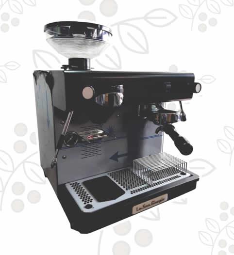 Máquina de Café Express/Capuchinera Bar 1 Grupo Semi Automática con molino incorporado
